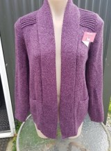 california short  cardigan mauve